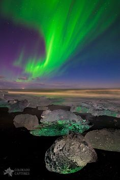 Glowing Gems Of Iceland - Jokulsarlon - Iceland. What movement of Color and style, I give this artiest a A in composition and coloring and brush Strokes, Just kidding God I knew It Was You!