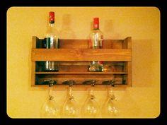 Wooden Wine wall rack www.pinowood.ca Wine Wall, Wall Racks, Liquor Cabinet, Storage, Furniture, Home Decor, Purse Storage, Homemade Home Decor, Larger
