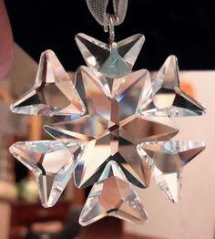 Swarovski Christmas Ornament Litle Star/Snowflake#swarovski#littlesnowflake