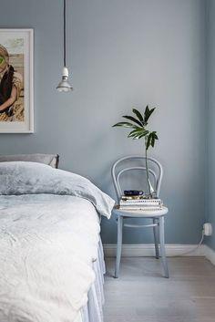 Blue Bedroom Wall – Home Bedroom Blue Bedroom Walls, Bedroom Wall Colors, Home Bedroom, Modern Bedroom, Bedroom Decor, Bedroom Ideas, Master Bedroom, Dulux Bedroom Colours, Light Blue Bedrooms