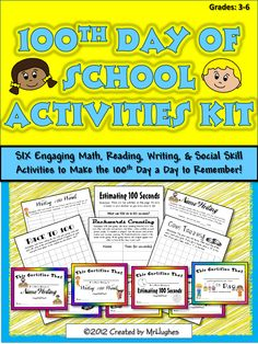 The 100th day of school brings with it the opportunity to celebrate with our students. If your kiddos are like MY kiddos, then these hands-on, challenging activities will be just the thing you need to add some fun to your celebration. ($)