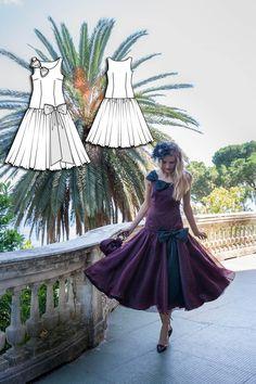 Vintage York Dress #V6 http://www.burdastyle.com/pattern_store/patterns/york-dress?utm_source=BurdaStyle&utm_medium=bs&utm_campaign=bsttbl130415exclusivevintagecollection-yorkdress