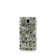 Milky Way Clear TPU Case for Samsung Galaxy Note 4 - Cat Overload 2