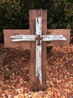 Rustic cross lanternswedding centerpieceswedding giftrustic rustic wood cross reclaimed pallet wood crosswood crossdecorative wood cross springtime decormothers day gifteaster decorwedding gift negle