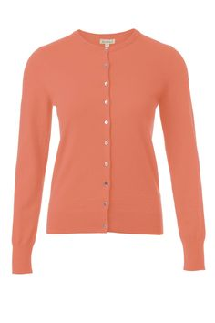 cotton cashmere cardi, Light Coral. Poudre softened colour is O.K. far from face - cardigans, sweaters, blazers, coats.. And of course, trossers or skirts.
