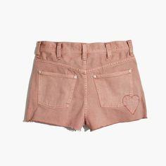 madewell blush high-rise jean shorts