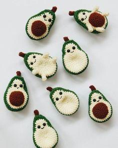 Crochet Couple or friendship avocados #vscocam #avocado #couple #friendship…