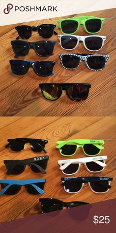 Sunglasses bundle Bundle of sunglasses that include one from zumiez one from roxy one from headstrong lacrosse and some others Roxy Accessories Sunglasses
