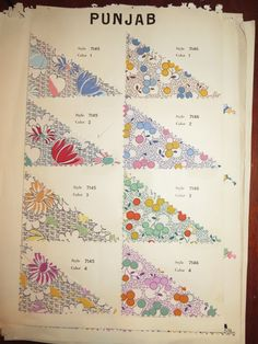 Vintage 1930s Punjab Fabric Sample Book Juvenile Novelty Prints Floral