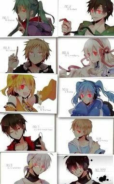 Mekakushi-Dan - Characters