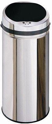 auto sensor bin > 50 litre stainless steel waste bin. - taps4less.com