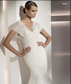 French Style Lacy Chic Wedding Dress
