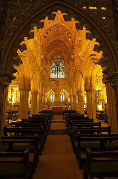 Rosslyn Chapel located at the village of Roslin, Midlothian, Scotland. by Paul Hurst, via Flickr (Da Vinci Code----detail from the entrance. The chapel is much smaller than most people imagine.)