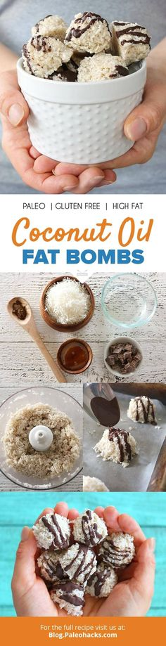 These 5-ingredient coconut oil fat bombs melt in your mouth and pack a dose of energy! Get the recipe here: http://paleo.co/cocofatbombs