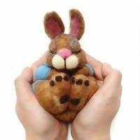 Needle Felted Animals, Felt Animals, Needle Felting, Felt Bunny, Bunny Rabbit, Felt Gifts, Perfect Gift For Mom, Lovers Art, Ireland