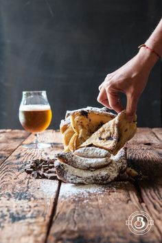 Chocolate Belgian Ale Pull-Apart Breakfast Loaf