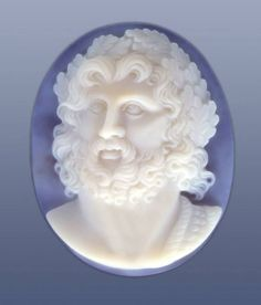 'Zeus' agate cameo by Roth-Cameo