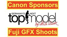Canon Sponsors Next Top Model TV Show and Fujifilm GFX 50S Shoots It :)  Canon Sponsors Fuji GFX Shoots  Just a little weekend curiosity :)  You might remember how Canon recently used part of a Fujifilm image to promote their own cameras.  Today we have another example of marketing gone probably not exactly the way Canon hoped and its spotted by Ulf from ukphotography (thanks).  Canon is this years sponsor of the big German TV show Germanys next Top Model.  The sponsorships officially…