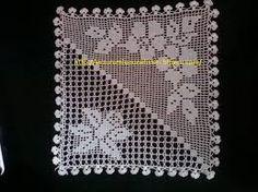 This post was discovered by Ha Crochet Art, Crochet Round, Crochet Squares, Crochet Doilies, Crochet Designs, Crochet Patterns, Fillet Crochet, Diamond Pattern, Crochet Projects