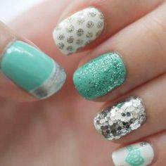 Aqua dream Nail Diva | Nail gel nail designs