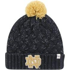 80fc8e301ea Notre Dame Fighting Irish  47 Brand Womens Fiona Cuff Knit Beanie – Navy  Blue Notre