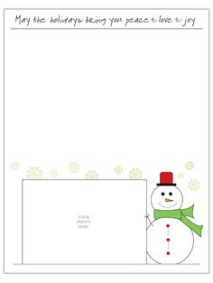 Free Christmas Letter Templates  Free Xmas Letter Templates