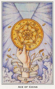tarotcollection:    Ás de Ouro (Ace of Coins) - Nigel Jackson Tarot