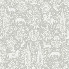 The Crown Archives Woodland Wallpaper offers traditional, intricate forest themed patterns in a duck egg blue tone. Free UK delivery available Tier Wallpaper, Wallpaper Roll, Pattern Wallpaper, Wallpaper Ideas, Trellis Wallpaper, Bedroom Wallpaper, Glitter Wallpaper, Butterfly Wallpaper, Green Floral Wallpaper