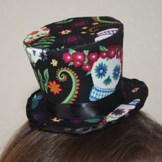c8e59dcdf5e Day of The Dead Top Hat Fascinator