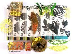 Carabelle Dies - Gelli Printing - Birgit Koopsen dies