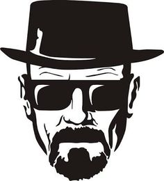 2 - Breaking Bad Heisenberg Stickers - Tall CMYK Die-Cut This sticker is 7 inch tall, CMYK printed and die-cut out of 5 year life vinyl. This is great for vehicles and all Breaking Bad fans. Breaking Bad Tattoo, Tatuaje Breaking Bad, Art Breaking Bad, Breking Bad, Gravure Laser, Bad Drawings, Bad Tattoos, Tattos, Movie Tattoos