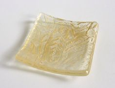 Small Glass Ring Dish in Gold by bprdesigns
