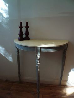 Small Demilune Hall Table small demi-lune hall table | upcycling: painted furniture and
