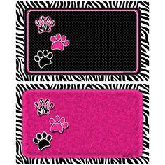 Drymate Black and Pink Pet Place Mat - Set of 2 - PMH28204