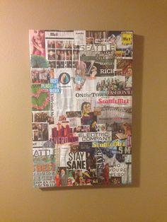 Magazine art DIY Magazine Crafts, Magazine Art, Weird, Rock, Frame, Diy, Picture Frame, Bricolage, Skirt