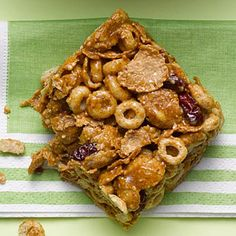 Want a quick, healthy (& crunchy!) breakfast to go? You'll love this easy Almond #Cereal Bar recipe with CHERRIES! | Health.com