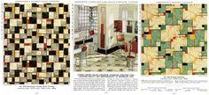 vintage linoleum 1940s   ... linoleum patterns and a kitchen design using Armstrong linoleum