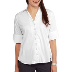 Brooke Leigh Women's Side Stretch Career Blouse