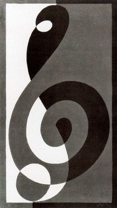"""Treble Clef """"Gn"""" by Josef Albers"""