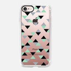 Triangles Mint Transparent -  #casetifyiphone7 #iphone7 #geometric #abstract #phonecase