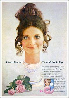 c.1970: Scotch Hair Set Tape Ads