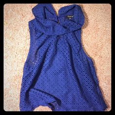 Forever 21 top Small blue Forever 21 top. Used but ony wore a few times. Normal wear with no rips or stains. Forever 21 Tops Blouses