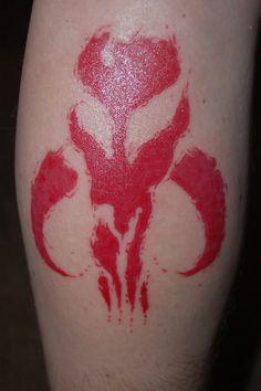 Mandalorian done by Joe Townzen at Lucky Stars Tattoo in San Jose California.