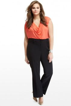 Three Button Pants | Plus Size Fashion from Fashion To Figure