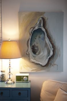 Love oversized painting of single shell