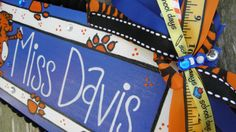Personalized Teacher Name Sign by SunshineSignDesigns on Etsy, $30.00