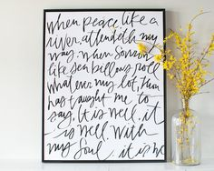 It is Well Canvas #lindsaylettersshop