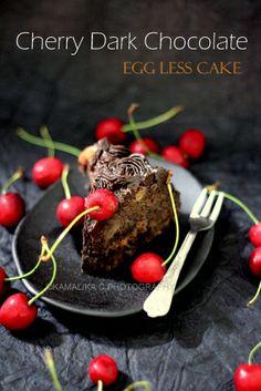 Cherry Dark Chocolate Egg less Cake