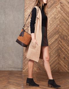 Long knitted waistcoat - KNITWEAR - WOMAN   Stradivarius Hungary