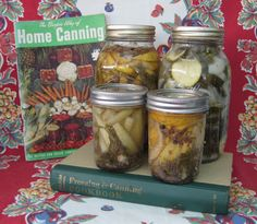 if i ever start canning, this has a recipe for pickled zucchini